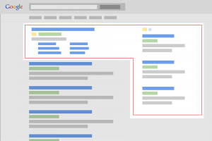 picture showing where search ads appear in the google search network