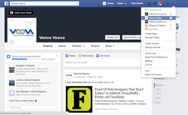 using Facebook as your business